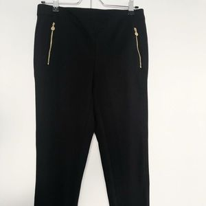 Anne Klein skinny leg black pants